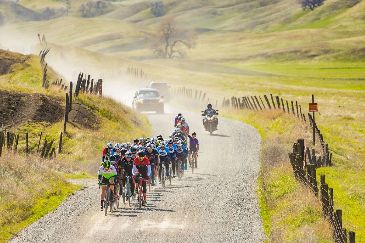 Gravel sector of Stage 2: Paskenta Road Race at Chico Stage Race.
