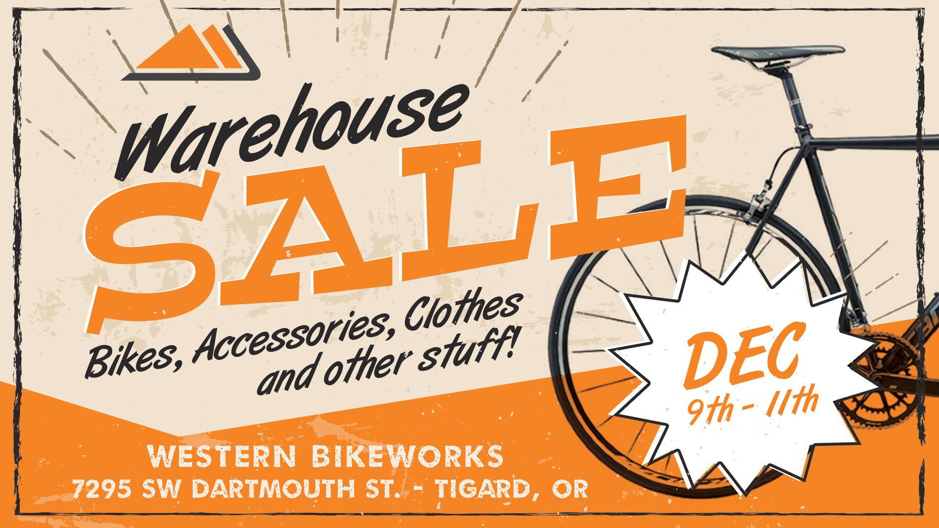 Warehouse Sale - 3 Days Only!