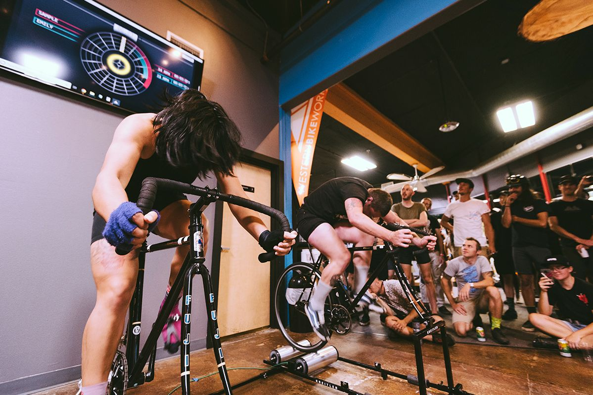 Goldsprints at Western Bikeworks